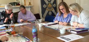 Staff from Girlguiding Scotland during evaluation training session