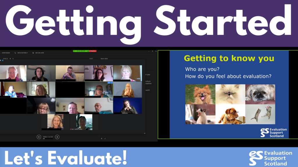 Screenshot of Getting Started workshop