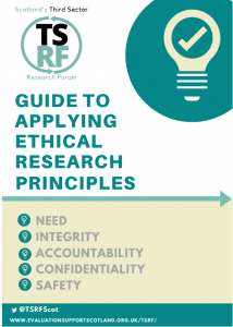 Front cover of TSRF guide to applying ethical research principles