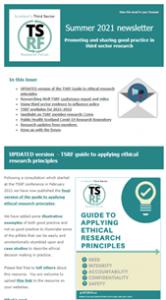 TSRF summer newsletter 2021